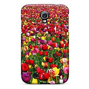 For Galaxy S4 Tpu Phone Case Cover(amazing Carpet Of Tulips)