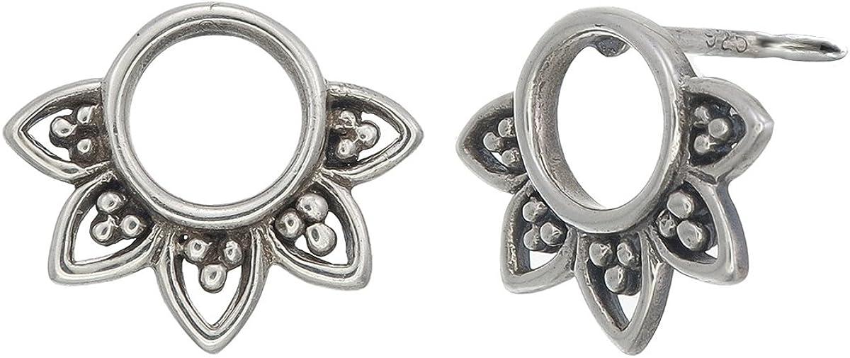 Boma Jewelry Sterling Silver Balinese Filigree Circle Stud Earrings