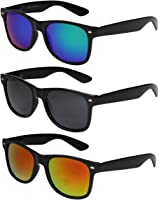 X-CRUZE® Nerd Sonnenbrille Retro Vintage Style Stil Unisex Brille - 45 verschiedene Farben/Modelle wählbar X01