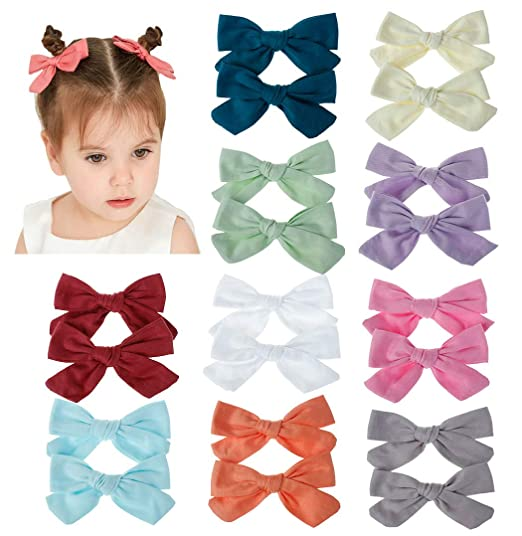 Details about  /20 Colors New Alligator Clips Girls Bow Ribbon Kids Sides Accessories GDY7 01