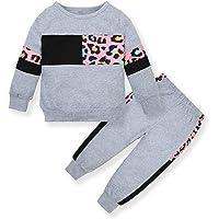 ZOEREA Conjunto de Ropa de Bebé Niña Moda Manga Sudadera Tops + Pantalones Leopardo Recién Nacido Niñas Otoño Primavera…