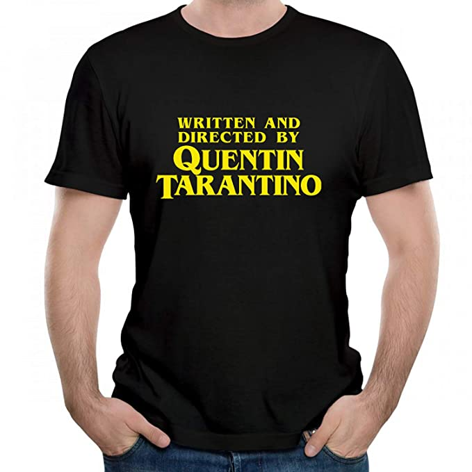 5c6158a00 Jackdona Written and Directed by Quentin Tarantino Graphic Mens T-Shirt  Crewneck Tees Black S