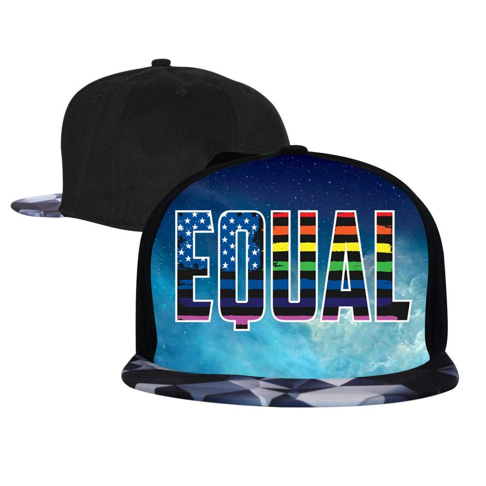 EUYK77 Equal Rights Mens and Womens Trucker Hats Adjustable Hip Hop Flat-Mouthed Baseball Caps