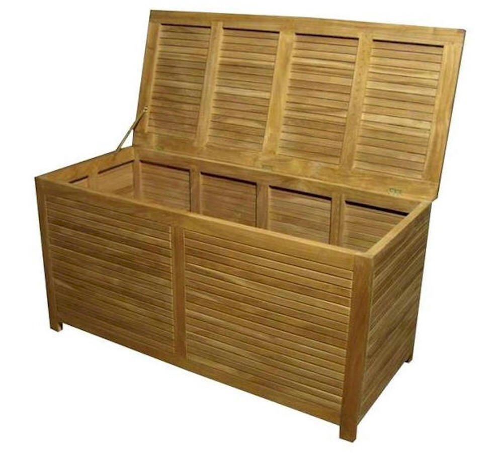 Amazon.com : Anderson Teak Camrose Storage Box, Small : Garden U0026 Outdoor