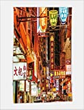 Minicoso Bath Towel Busy Street scene with neon signs in Hong Kong 503888764 For Spa Beach Pool Bath