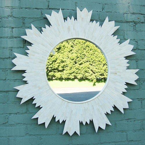 Bone Inlay Sun Mirror Frame by Mix Furniture
