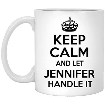 amazon com personalization mugs for jennifer keep calm and let