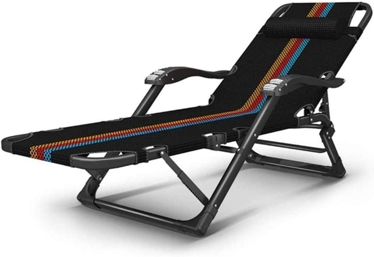 DLHXD Chaises Longues de Mode Chaise de Loisirs Lit Pliant