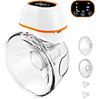 Upgraded Wearable Electric Breast Pumps, Hands-Free Breastpump with LCD Display,3 Modes & 9 Levels Adjustment,Battery…