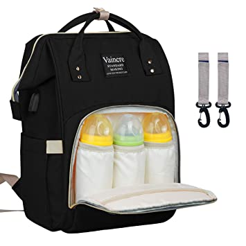 0cb2cf1a558c12 Amazon.com   Vaincre Multi-Function Waterproof Travel Baby Bags for ...