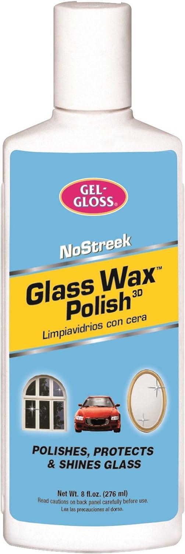Gel-Gloss No Streek Glass Wax Polish, 8 Fluid Ounces