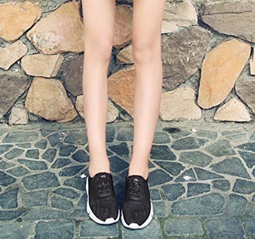Frau beiläufige Sportschuhe atmungsaktiv Laufschuhe Aufzug Schuhe Frau Herbst black