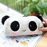 ReNext Cute Lovely Soft Plush Panda Pencil Pen Case Bag in Bag Cosmetic Makeup Bag Pouch