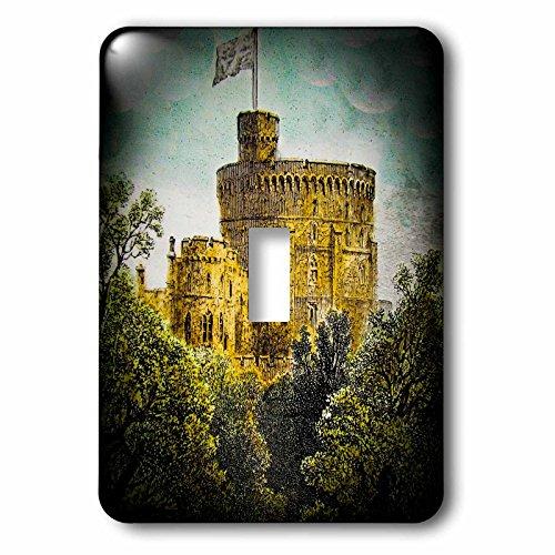 3dRose LSP_246138_1 Victorian Era Magic Lantern Slide Windsor Castle Round Tower Vintage Single Toggle Switch