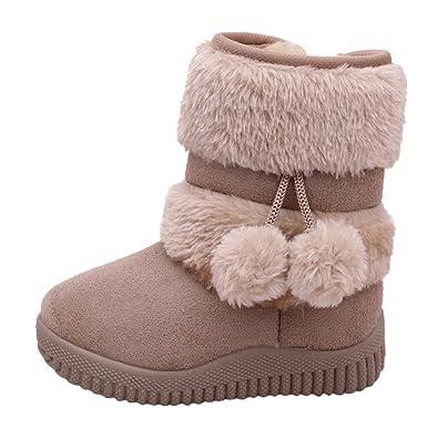 358111f74b712 Chic-Chic Enfant Bottes de Neige Hiver Fille Bébé Bottes d'hiver Fourrure  Chaudes Antidérapant Sole Souple Bottines Ski: Amazon.fr: Chaussures et Sacs