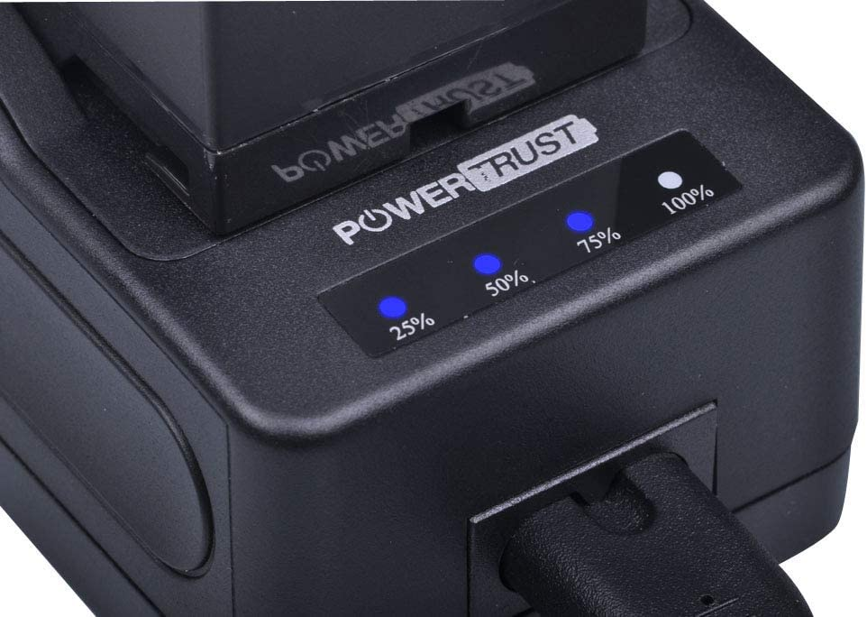 PowerTrust NP-F970 Quick Rapid Charger for Sony NP-F960 NP-F770 NP-F750 NP F970 NP F770 NP F960 NP-F980 NP-F990 NP-FM90 NP-FM70 Camcorder Battery