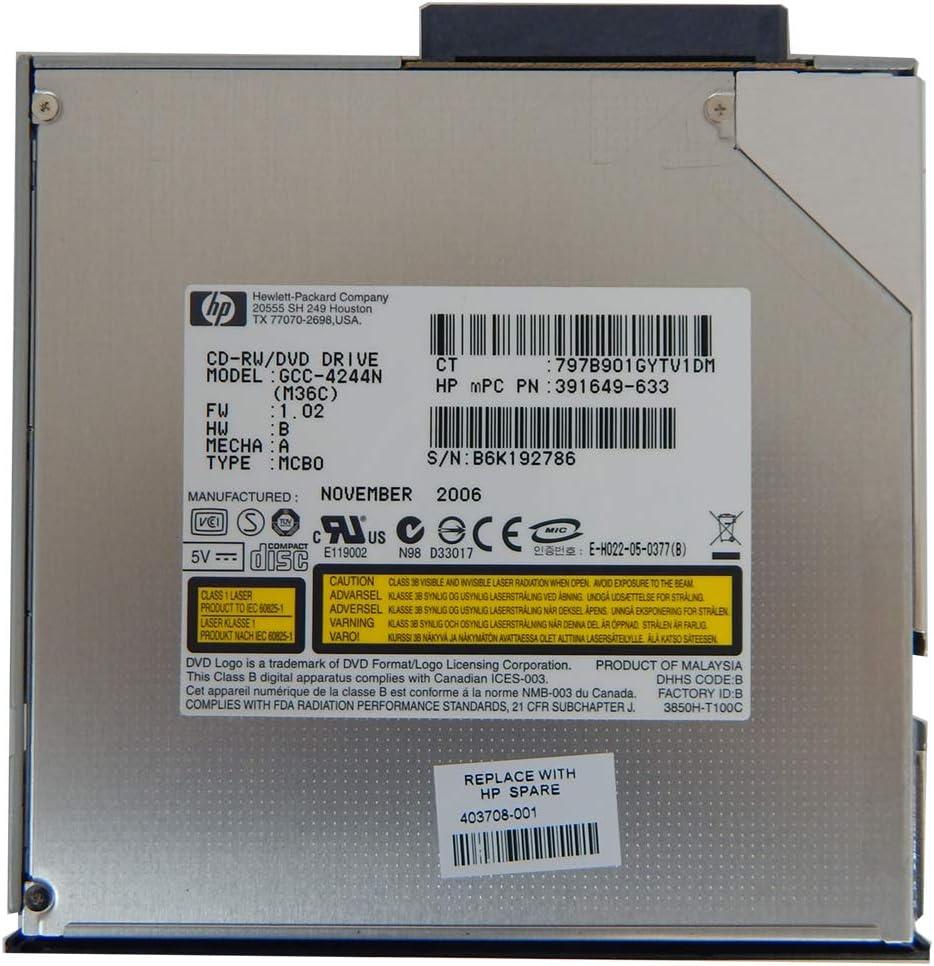 HP 3.5in CDRW-DVD Multibay 24x Combo Drive 391649-633 Black 403708-001- GCC-4244N