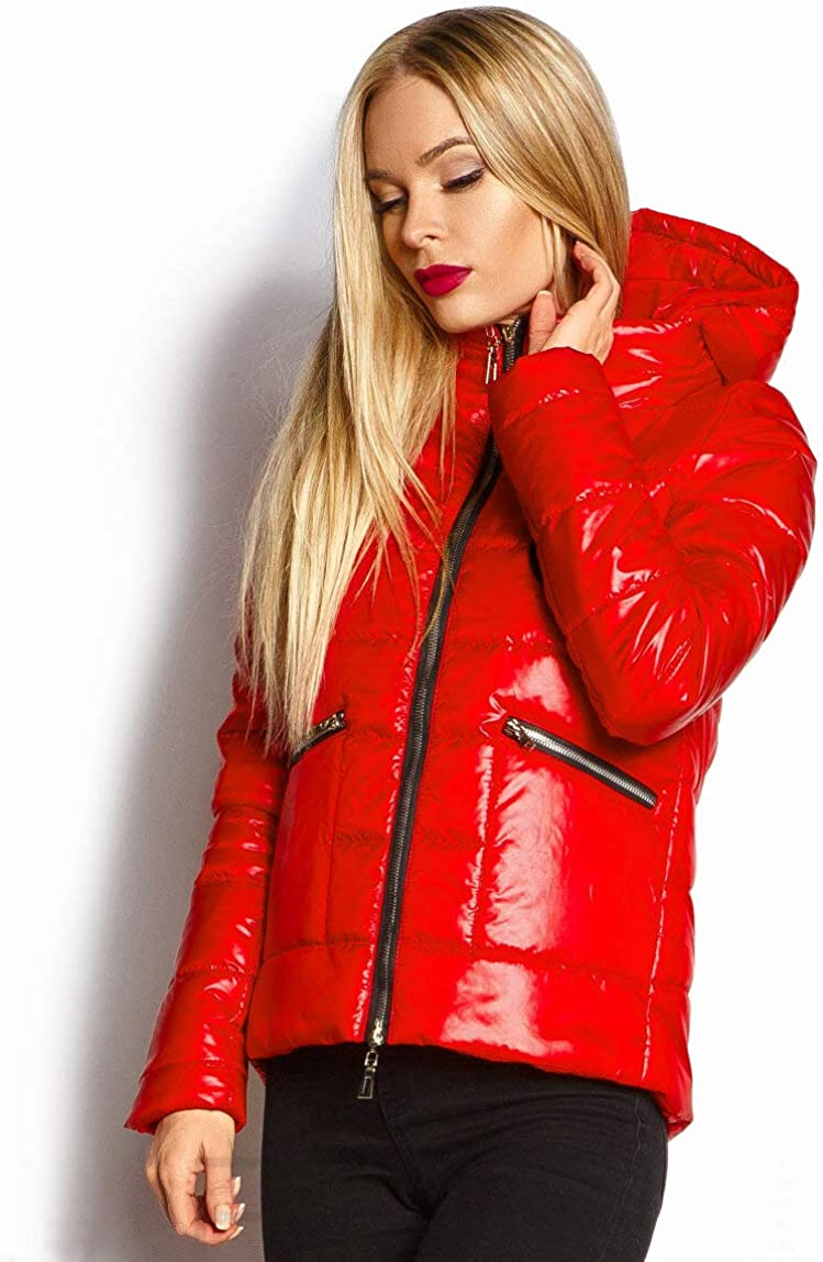 Selente #Fashionista Women's Lightweight Jacket Short for Half Season. Practicality and Elegance in Spring and Autumn. Mod. 1 Rosso