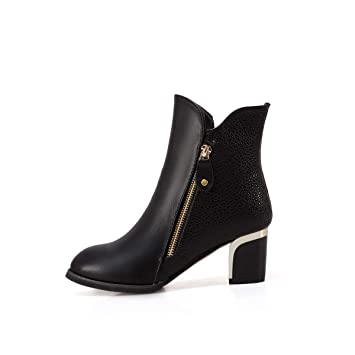 Gruesas Mujer E De Alto Yukun Tacón Zapatos Otoño Invierno Botas z0U0xRqX