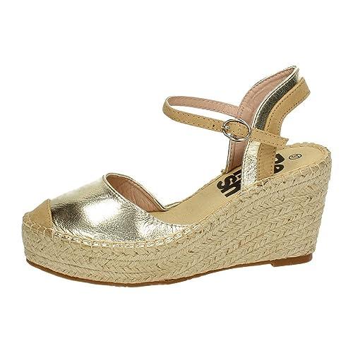 REFRESH 63307 Sandalias con CUÑA Mujer Alpargatas Oro 40: Amazon.es: Zapatos y complementos