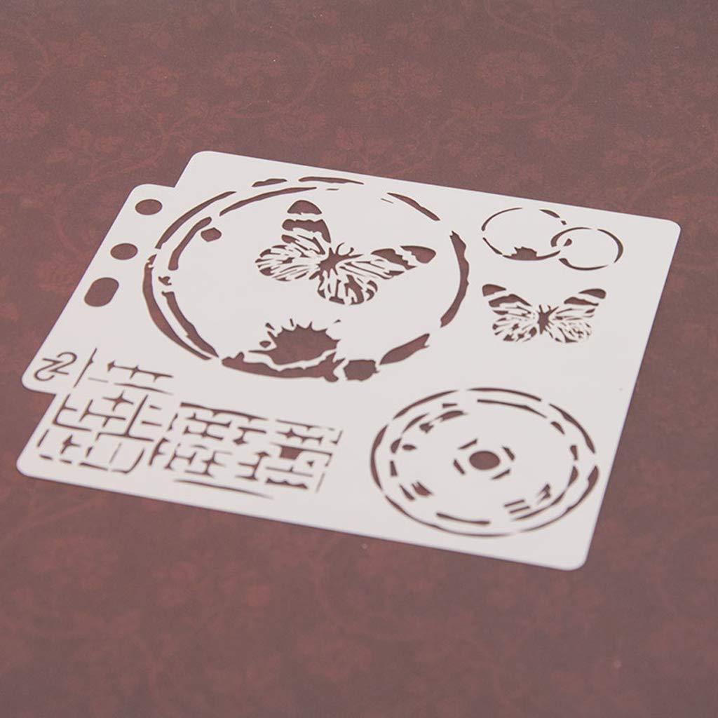 Kalttoy Butterfly Stencils Template Peinture Scrapbooking Gaufrage Stamping Album Card