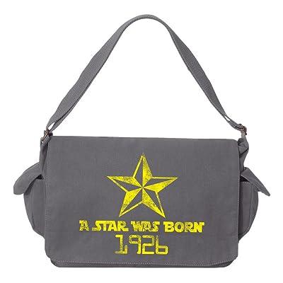 Tenacitee A Star Was Born 1926 Brushed Canvas Messenger Bag