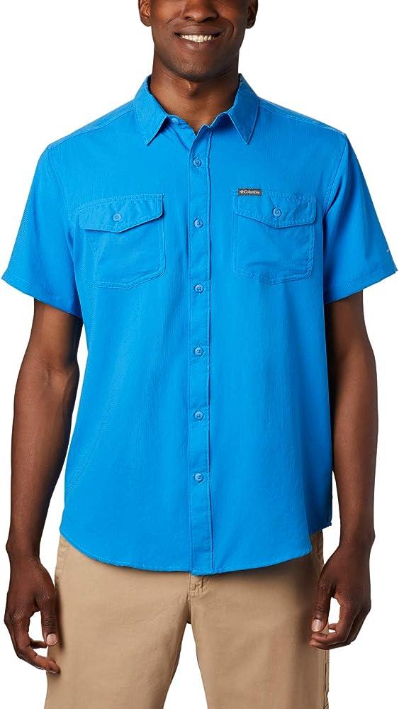 Columbia Utilizer II Camisa de Manga Corta, Hombre, Azul (Azure Blue), S: Amazon.es: Deportes y aire libre