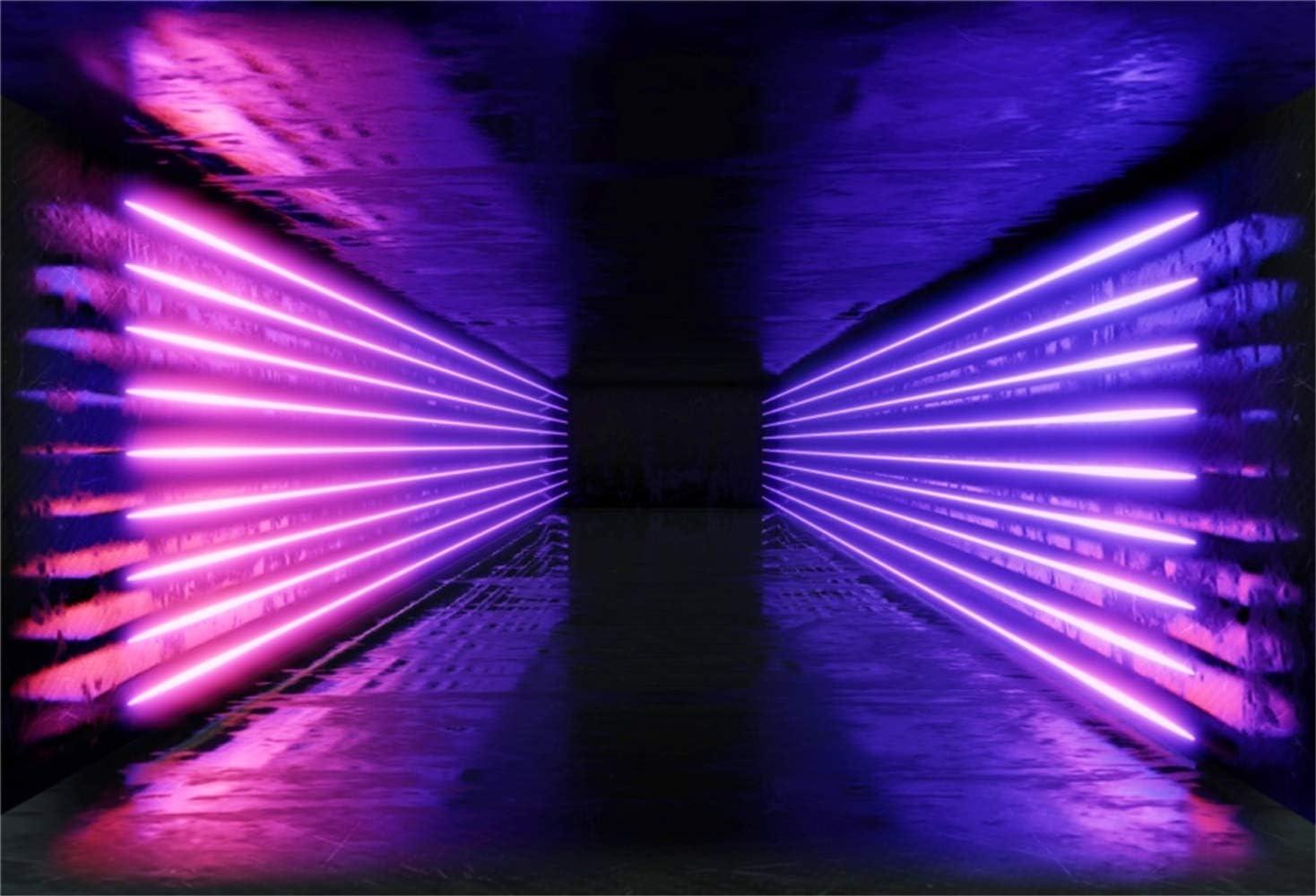 Leowefowa Neon Lichtertunnel Hintergrund Für Partys Im Kamera