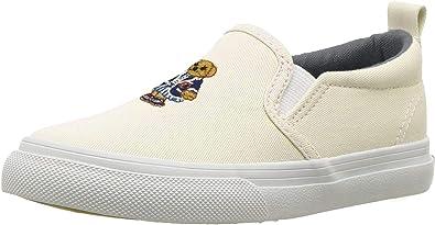 Polo Ralph Lauren Carlee Bear Sneaker para niños: Amazon.es ...
