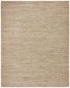 Stone & Beam Transitional Braided Jute Rug, 8' x 10', Smoke