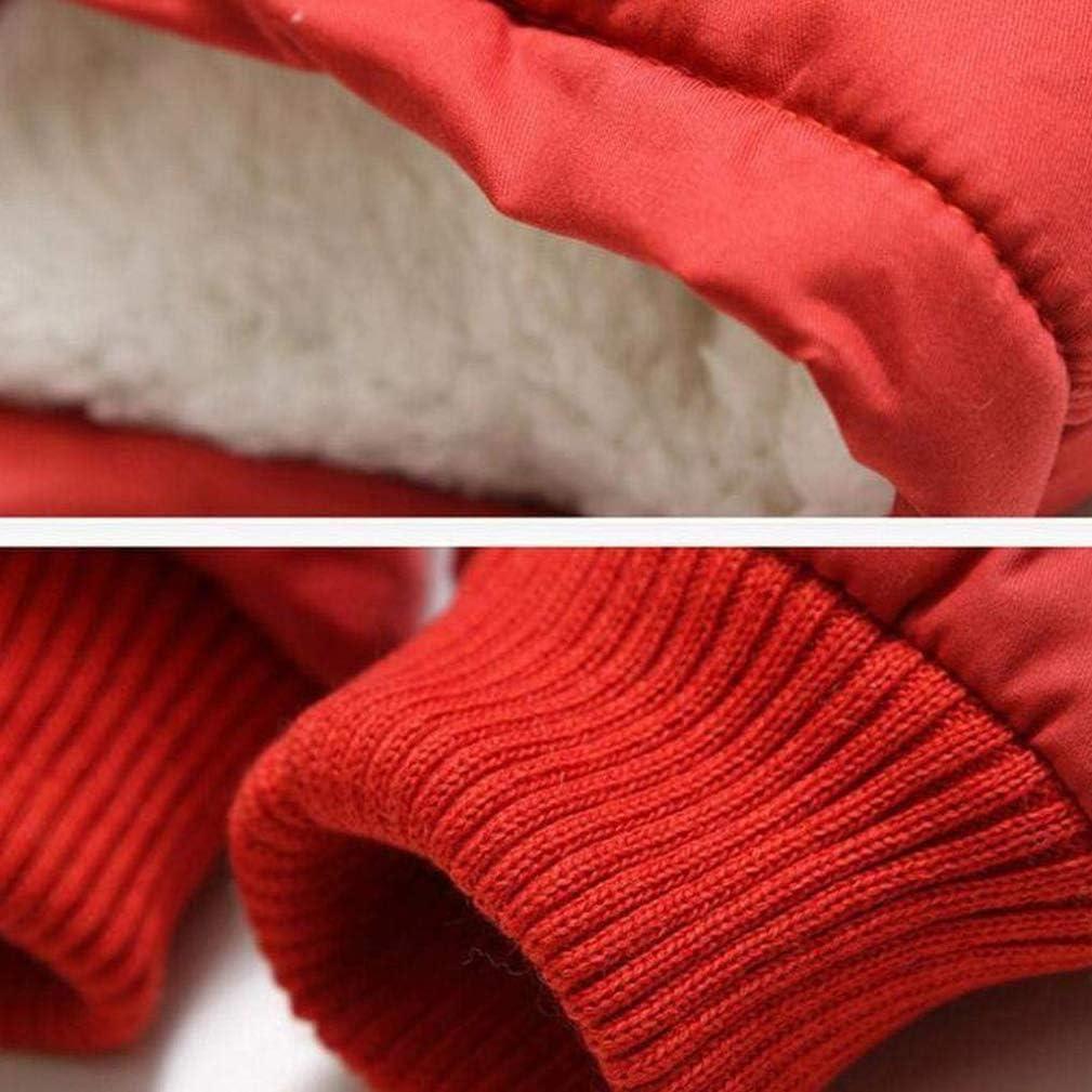 EISHOW Kids Boys Warm Thick Jackets Hooded Cotton Fleece Parka Coat Children Winter Zipper Outerwear