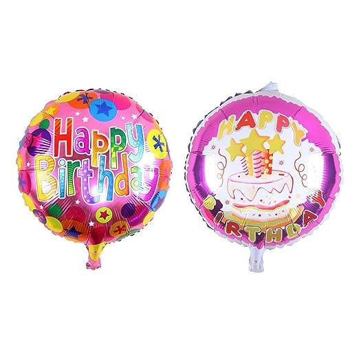 paletur88 2 Pzas. / Lote 18inch Feliz Cumpleaños Globos de ...