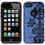 OtterBox Commuter Apple iPhone 5 & iPhone 5S Case - Black Floral Damask on Blue OtterBox Case