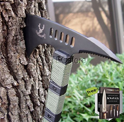 JTEC Tomahawk AXE w/Sheath Hatchet Survival Pick AXE Long Handle NEW - AN84 + Free eBook by SURVIVAL STEEL
