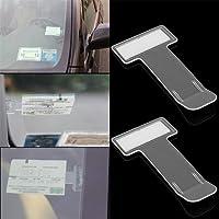 lennonsi 2X Parkscheinhalter für die Windschutzscheibe für Parkscheine Genehmigungen und Notizen für Autos Transporter und Wohnmobile