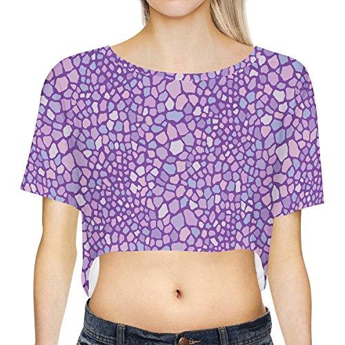 Purple Monster Skin Loose Fit Crop Top XS - 3XL