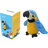 Vincilee Talking Parrot Repeats What You Say Talking Bird Plush Animal Toy Electronic Plush Parrot for Boy and Girl Gift…
