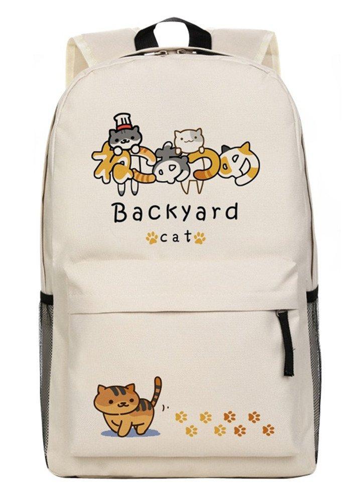 Siawasey Neko Atsumeアニメ猫裏庭コスプレブックバッグDaypack Collegeバックパックスクールバッグ B072KKL6CB