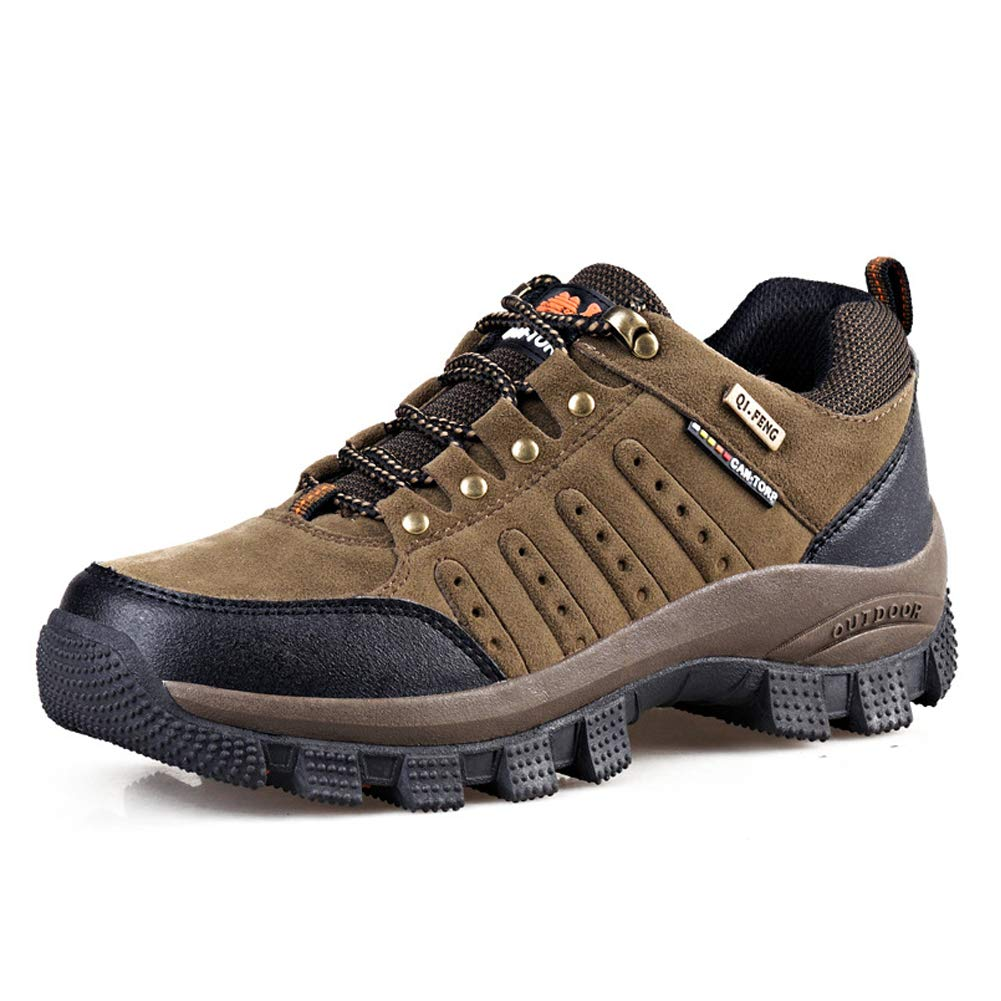 - SELCNG Hiking shoes Outdoor Climbing Shock Absorber Walking shoes Large Size Men and women-brown-44