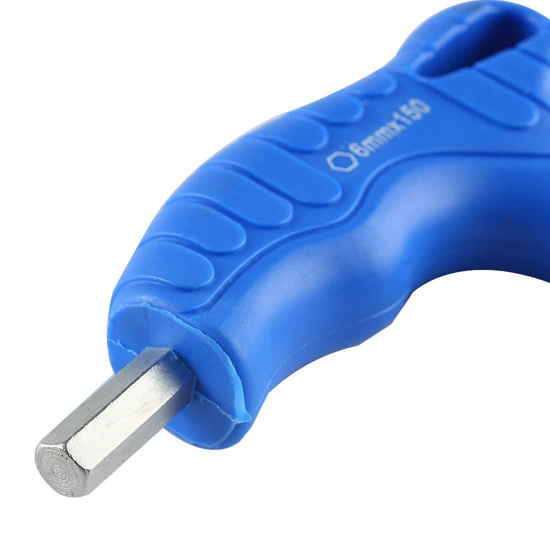 3mm Andux Zone Innensechskantschl/üssel Blau T-Griff CR-V Sechskant Metrischschl/üssel Sechskantschl/üssel flaches Ende NLJBS-07