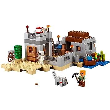 Amazon.com: LEGO Minecraft The Desert Outpost 21121: Toys & Games
