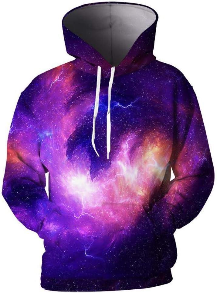 PU Frühling und Herbst 3D Hooded Men Coole Männer Mantel Galaxy Nebula 3D Print Männer Hooded Sweatshirts 3D Pullover Männer Hoodies,M M