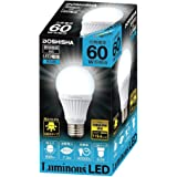 ルミナス LED電球 口金直径26mm 60W相当 昼白色 広配光タイプ 密閉器具対応 CM-A60GN