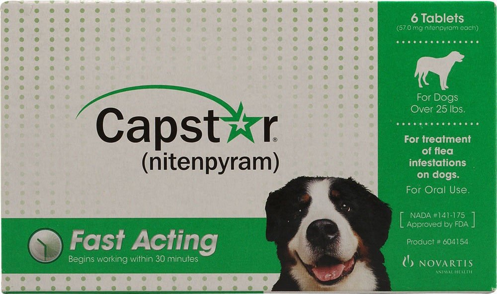 Amazoncom Capstar Flea Tablets For Dogs Over 25lbs Pet Supplies