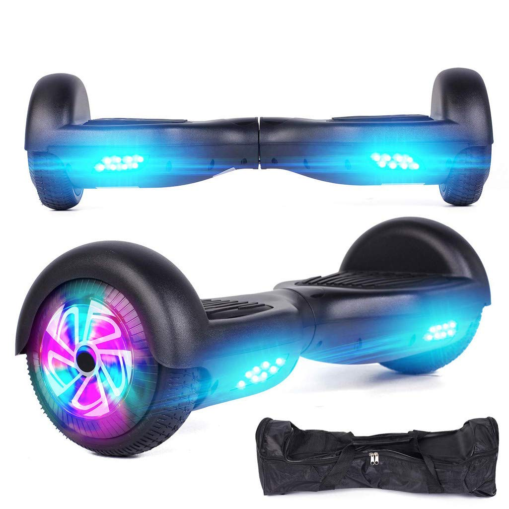 Black 6.5-Inch Two-Wheeled Intelligent Electric Skateboard Balance Car Mini Smart Self Balancing Electric Unicycle Scooter Balance 2 Wheels