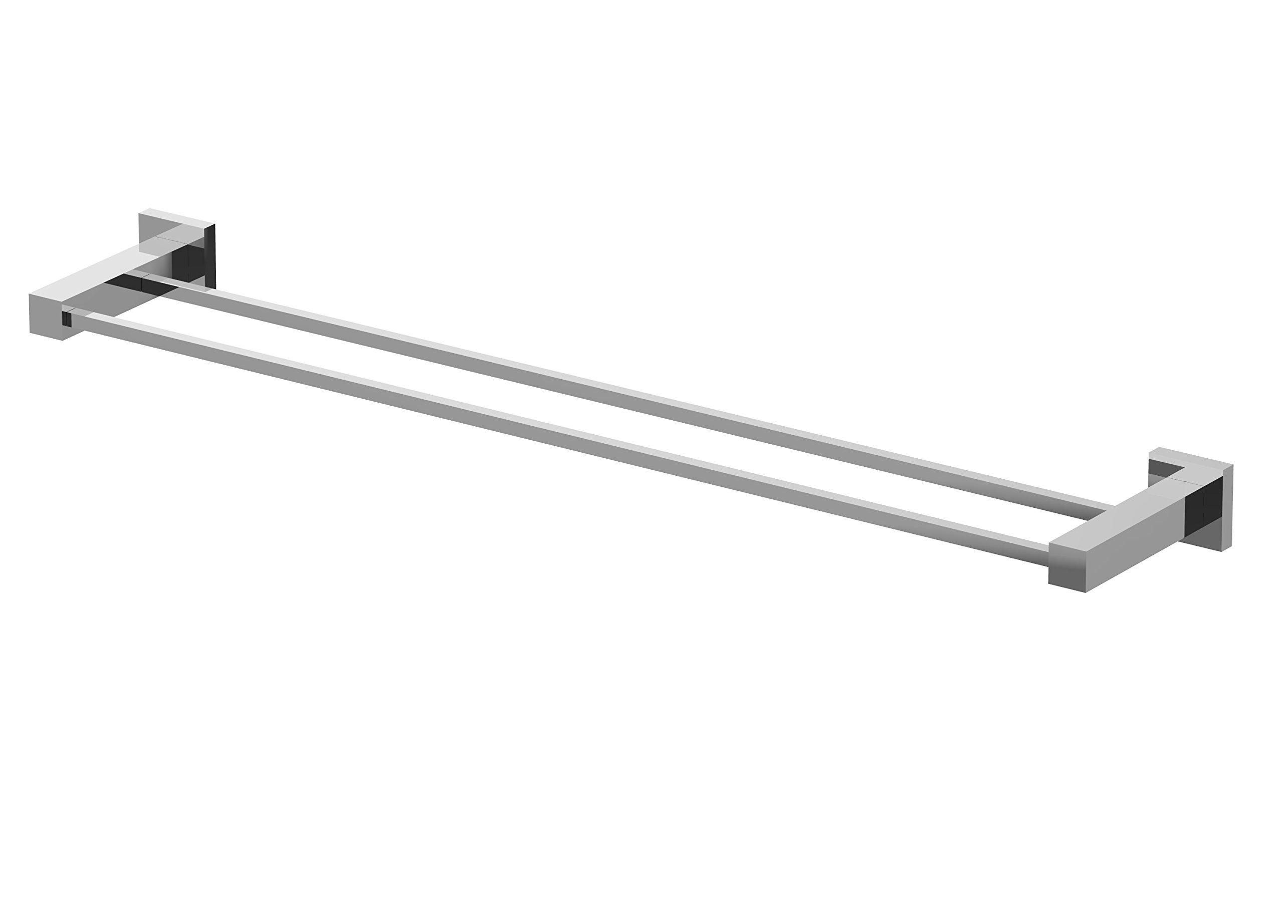 Eviva EVAC22BN Twin Toweller Towel bar Bathroom Accessories Combination, Brushed Nickel