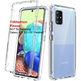 Dahkoiz Case for Samsung Galaxy A71 5G Case [Not for A71 5G UW from Verizon], See-Through Clear Crystal TPU Bumper Cover Slim