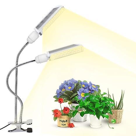 120W LED Cultivo Interior, Lámpara de Plantas 90LED con Atenuación Nivel 10, Espectro Completo, 5400lm, Bombilla Reemplazable E27 Grow Light para ...