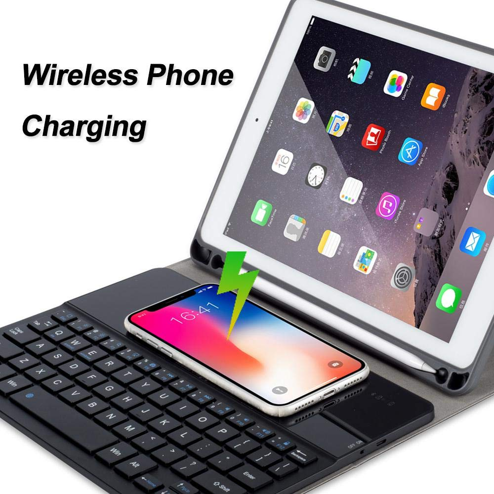 OXOQO Bluetooth Folio Keyboard Case for iPad Air/iPad Pro 9.7 / New iPad 9.7'' - Smart Wireless Tablet Keyboard Cover with Detachable Shell Wireless Charging 60 Days Stand by by OXOQO (Image #5)