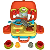 SFL 15 Pezzi Finta Play Kit da Cucina Giocattolo Prima Educazione Giocattolo per i Bambini